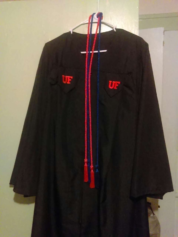Used UF Graduation Gown w/ honors cords for sale in Gainesville - letgo