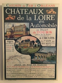 French chateaux poster Loire valley  Alexandria, 22302