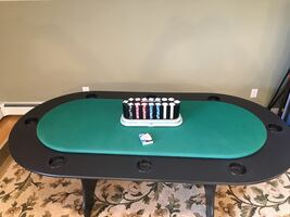 Poker table with chips