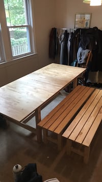 Dining Room Table and 2 Benches Arlington, 22209