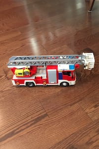 Playmobile Fire Truck Set with extras