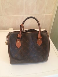 Tote bag in pelle nera louis vuitton