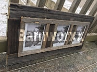 Reclaimed wood picture frame.