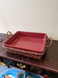 Oven tray with basket