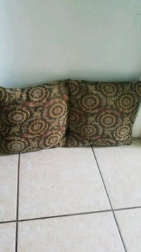 brown and black floral throw pillow Cape Coral