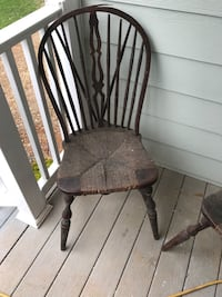 6-Brown wooden windsor chairs Springville, 35146