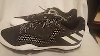 New Adidas PowerAlley 4 Men's Baseball Metal Cleats Black/White Q16481 Size 12 Hagerstown