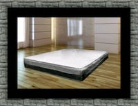 Singlesided pillowtop mattress with box 58 km