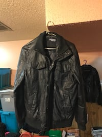 Leather quilted size medium