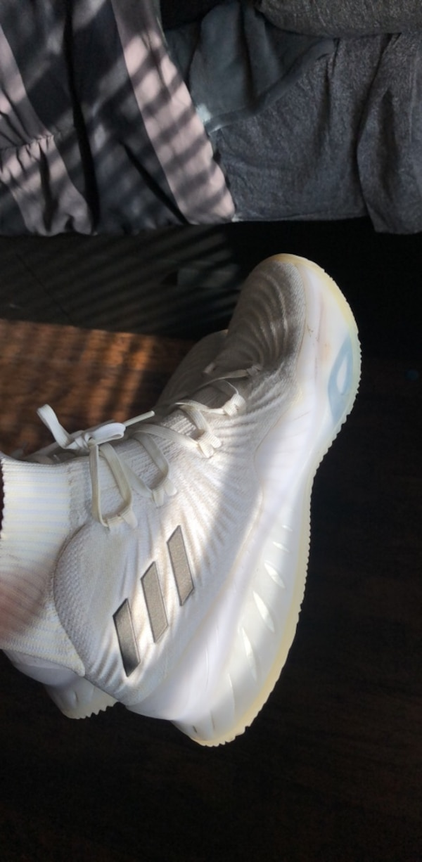 8b589c9ad0d Used pair of white Adidas low top sneakers for sale in Rosharon - letgo