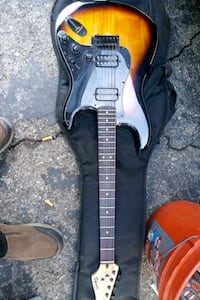 black and brown electric guitar Los Angeles, 90045