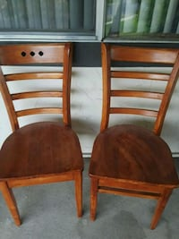 two brown wooden armless chairs Salt Lake City, 84116