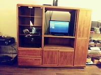 "Solid Oak Entertainment Center- opening 39"" wide Beaumont, 77706"