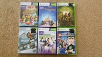 Assorted Xbox 360 and Kinect games. San Diego, 92115