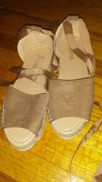 pair of gray open-toe sandals Middletown, 06457