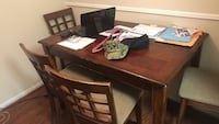 brown wooden dining table set Houston, 77077