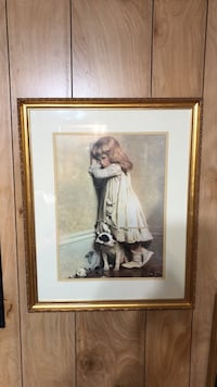 Very beautiful picture with vintage frame.  Rockingham, 28379