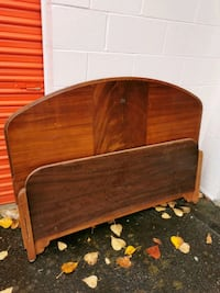 Antique wood bed headboard & footboard Langley City, V1M 3T4