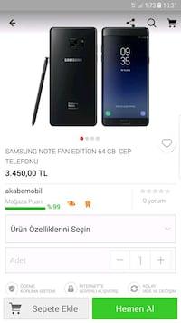 Samsung galaxy note fan edition yani note 7 Bahçelievler