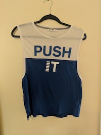Blue and white VS tank top Size XS