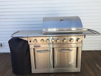 stainless steel gas grill with gas stove