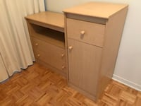 brown wooden 2-drawer chest Montréal, H1L 4G6