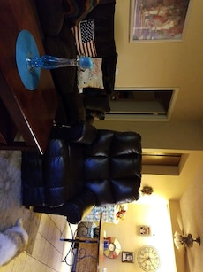 Brown leather lift recliner