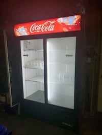 black and white Coca-Cola commercial refrigerator Bel Air, 21015