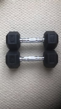 two black fixed weight dumbbells Calgary, T2T 4B1
