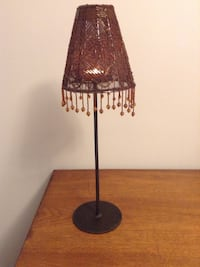 Beaded candle lamp