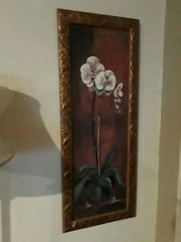 white orchids painting framed