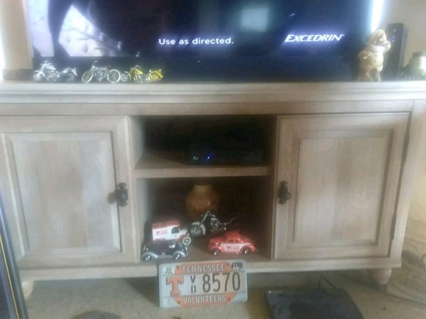 Used T V Stand Matching Coffee Table And Two End Tables For Sale In