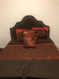 Queen Bed with pillow-top mattress and comforter set Washington