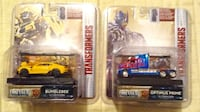 Transformers Optimus prime and bumblebee diecast cars 1/64 scale new