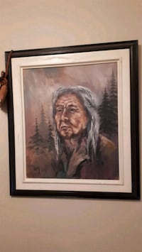 North american indian oil painting Laval, H7X 3H2