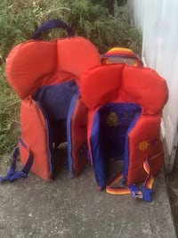 Infant and toddler life jackets