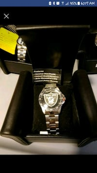 Raiders Stainless Steel watch
