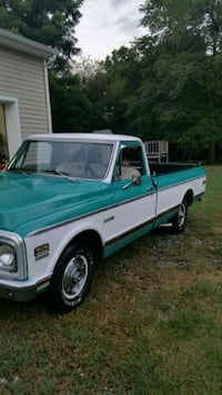 1971 Chevy white and green single cab pickup truck Hampton, 23669