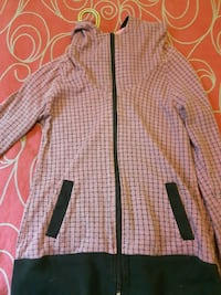 Pink and black bench sweater