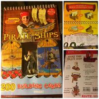 BRAND NEW Klutz Building Cards: How to Build Pirate Ships..ages 10+...REUSABLE cards North Vancouver, V7M