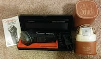 black and gray Norelco electric shaver set