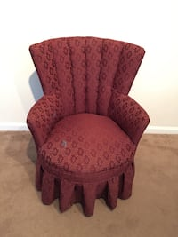 Maroon Accent Chair