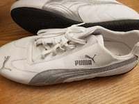 Men's Leather Puma Shoes White and Silver Size 13 Ottawa