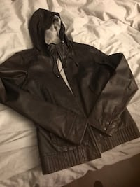 Danier Brown leather bomber  Toronto, M5V