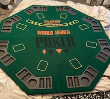 Poker Table Top and Chip Set