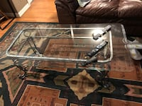 2 side glass table and coffee table