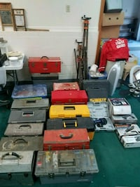 Huge lot of hand an power tools &tool boxes
