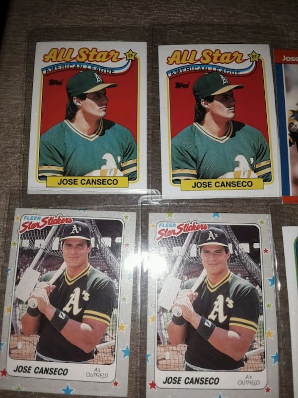 1988 Baseball cards jose Canseco (6 cards) 8bf18eb6-118e-4482-b335-d1713cb9fdca