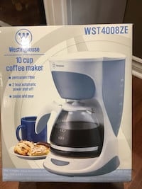 White and blue Coffee Maker Vaughan, L6A 0A6
