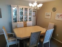 Rectangular wooden table with six chairs dining set Toronto, M2R 3T2